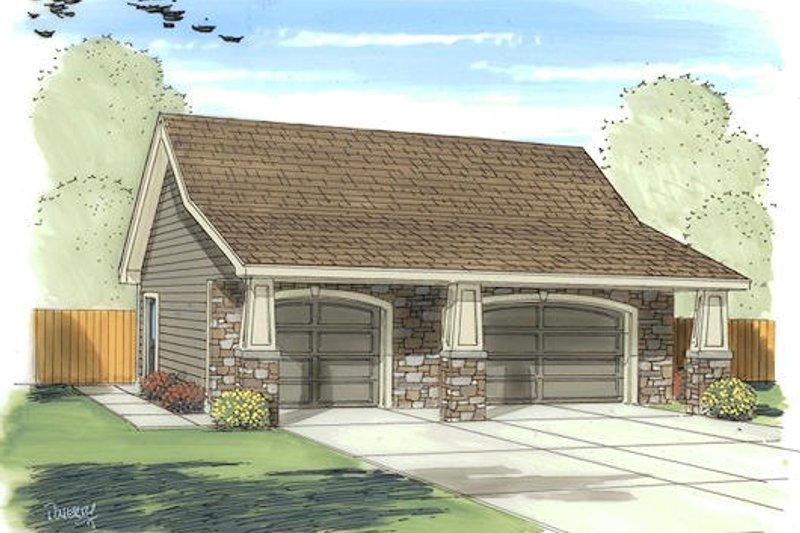 Craftsman Exterior - Front Elevation Plan #455-20