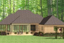 Home Plan - European Exterior - Rear Elevation Plan #406-9612