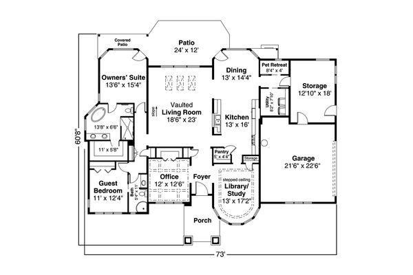 Dream House Plan - Prairie Floor Plan - Main Floor Plan #124-1159
