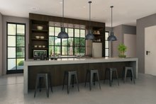 Dream House Plan - Modern Farmhouse Style Kitchen