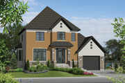 European Style House Plan - 4 Beds 1 Baths 1927 Sq/Ft Plan #25-4491 Exterior - Front Elevation