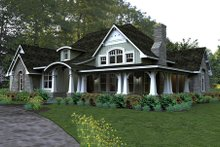 Home Plan - Craftsman style home by Texas architect David Wiggins - 2200 sft