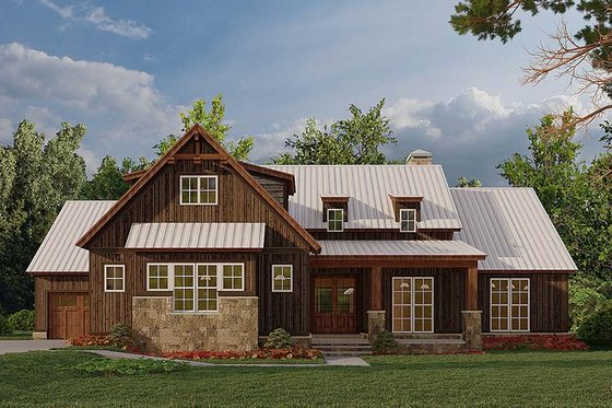 Farmhouse Exterior - Front Elevation Plan #923-181