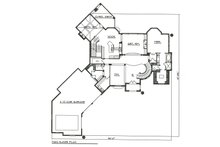 Main Level Floor Plan - 7000 square foot European home