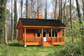 Cabin Style House Plan - 1 Beds 1 Baths 384 Sq/Ft Plan #25-4565 Exterior - Front Elevation