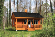 Cabin Style House Plan - 1 Beds 1 Baths 384 Sq/Ft Plan #25-4565