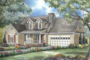 Colonial Exterior - Front Elevation Plan #17-599