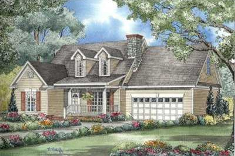 Colonial Style House Plan - 3 Beds 2.5 Baths 1777 Sq/Ft Plan #17-599 Exterior - Front Elevation