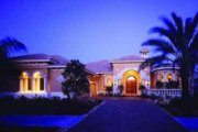 Mediterranean Style House Plan - 3 Beds 4.5 Baths 3341 Sq/Ft Plan #115-106 Exterior - Front Elevation