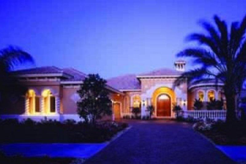 Mediterranean Style House Plan - 3 Beds 4.5 Baths 3341 Sq/Ft Plan #115-106