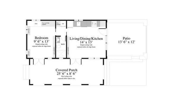 Adobe / Southwestern Floor Plan - Main Floor Plan #917-3