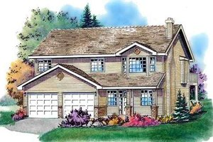 Traditional Exterior - Front Elevation Plan #18-274