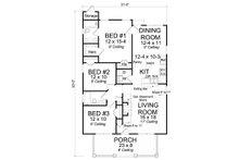 Craftsman Floor Plan - Main Floor Plan Plan #513-2094