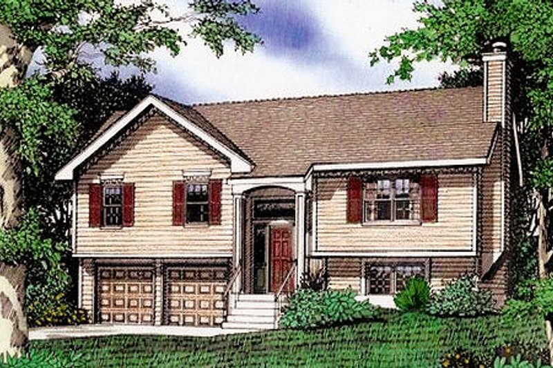 Traditional Exterior - Front Elevation Plan #405-161 - Houseplans.com