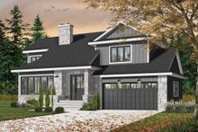 Traditional Exterior - Front Elevation Plan #23-712