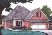 European Style House Plan - 3 Beds 2.5 Baths 1806 Sq/Ft Plan #310-681 Exterior - Front Elevation