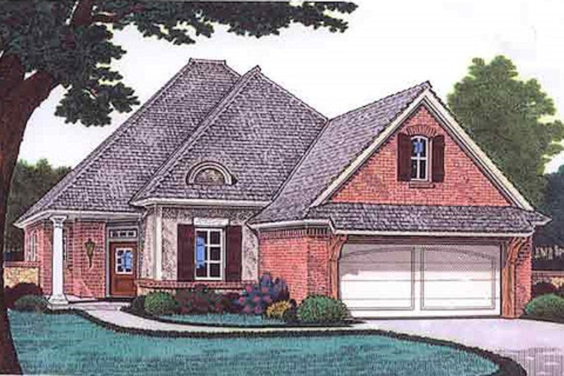 European Exterior - Front Elevation Plan #310-681