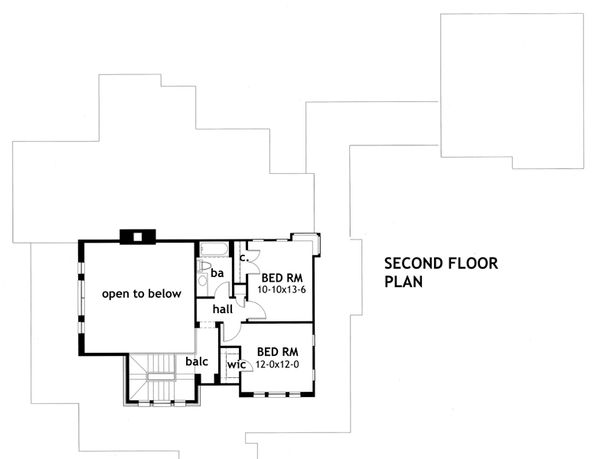 Craftsman Floor Plan - Upper Floor Plan Plan #120-167