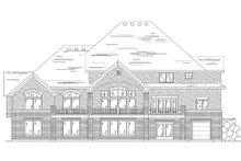 House Plan Design - European Exterior - Rear Elevation Plan #5-405