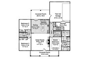Country Style House Plan - 3 Beds 2 Baths 1657 Sq/Ft Plan #21-393 Floor Plan - Main Floor Plan