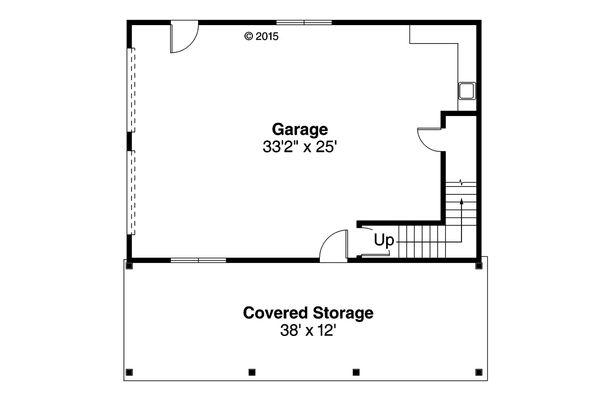 Craftsman Floor Plan - Main Floor Plan Plan #124-961