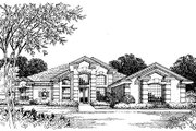 European Style House Plan - 5 Beds 3 Baths 2799 Sq/Ft Plan #417-335 Exterior - Front Elevation
