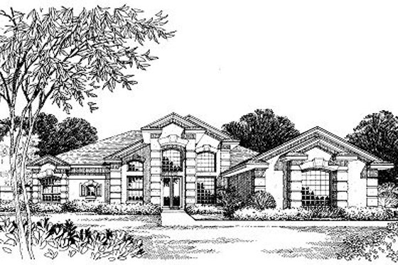 European Exterior - Front Elevation Plan #417-335