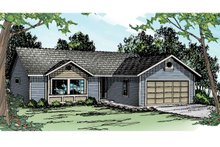 Ranch Exterior - Front Elevation Plan #124-905