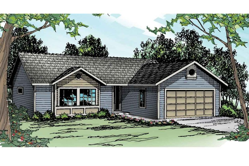 Home Plan - Ranch Exterior - Front Elevation Plan #124-905