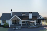Farmhouse Style House Plan - 3 Beds 2.5 Baths 2688 Sq/Ft Plan #1070-4 Exterior - Rear Elevation