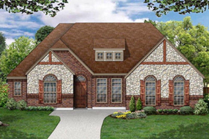 Dream House Plan - European Exterior - Front Elevation Plan #84-484