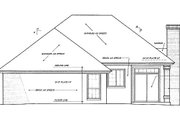 Country Style House Plan - 3 Beds 2 Baths 1376 Sq/Ft Plan #310-751 Exterior - Rear Elevation