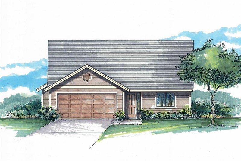 House Plan Design - Craftsman Exterior - Front Elevation Plan #53-592