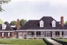 Southern Exterior - Front Elevation Plan #410-195