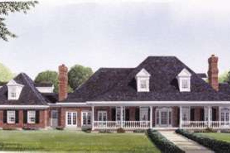 House Plan Design - Southern Exterior - Front Elevation Plan #410-195