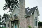 Cottage Style House Plan - 3 Beds 2 Baths 1805 Sq/Ft Plan #72-316 Exterior - Rear Elevation