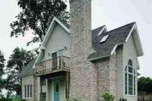 Home Plan - Cottage Exterior - Rear Elevation Plan #72-316