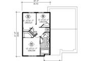 Colonial Style House Plan - 3 Beds 1 Baths 1269 Sq/Ft Plan #25-4259 Floor Plan - Upper Floor Plan