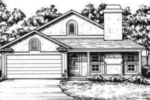 Exterior - Front Elevation Plan #30-133