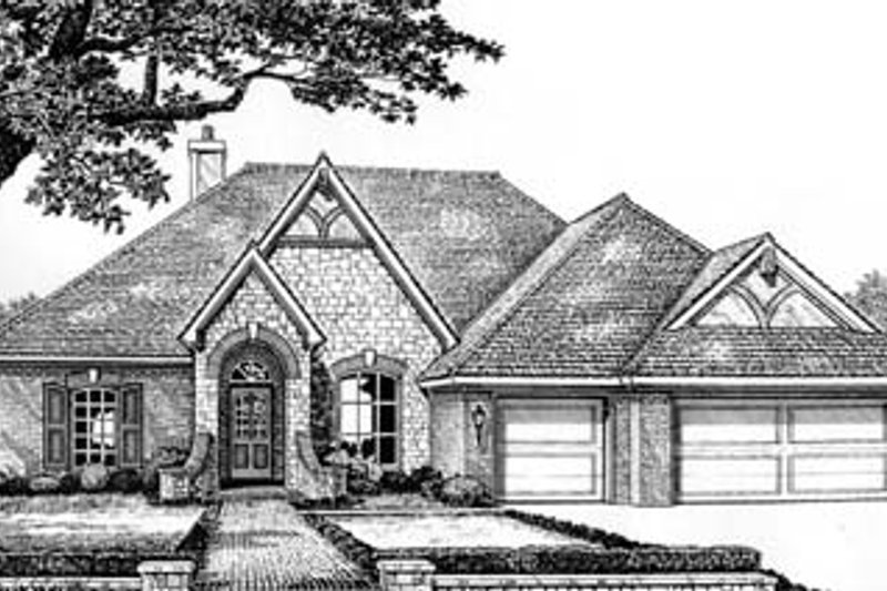 European Exterior - Front Elevation Plan #310-527
