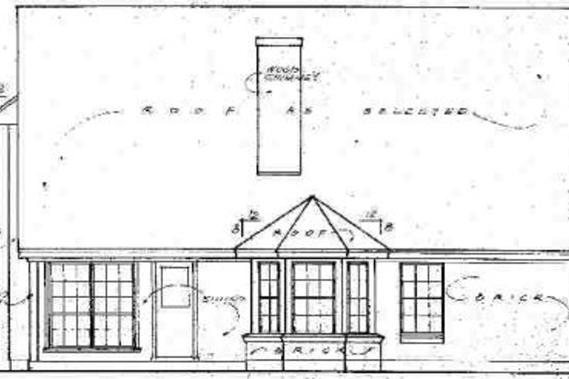 Traditional Exterior - Rear Elevation Plan #40-246 - Houseplans.com