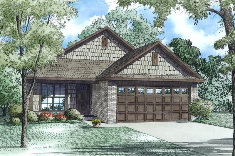 Cottage Style House Plan - 3 Beds 2 Baths 1198 Sq/Ft Plan #17-2546