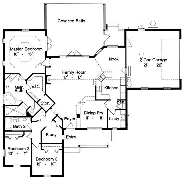 Ranch Floor Plan - Main Floor Plan #417-189