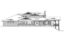 Bungalow Exterior - Rear Elevation Plan #5-386