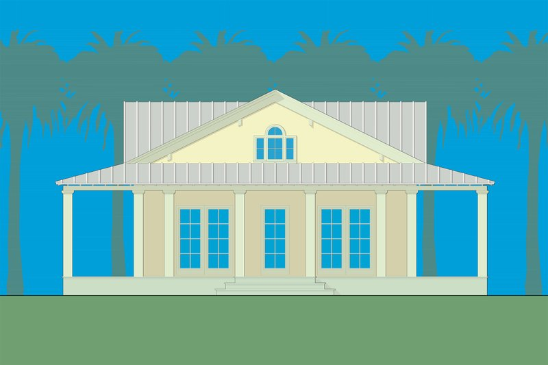 Country Style House Plan - 4 Beds 2 Baths 2599 Sq/Ft Plan #492-3 Exterior - Front Elevation