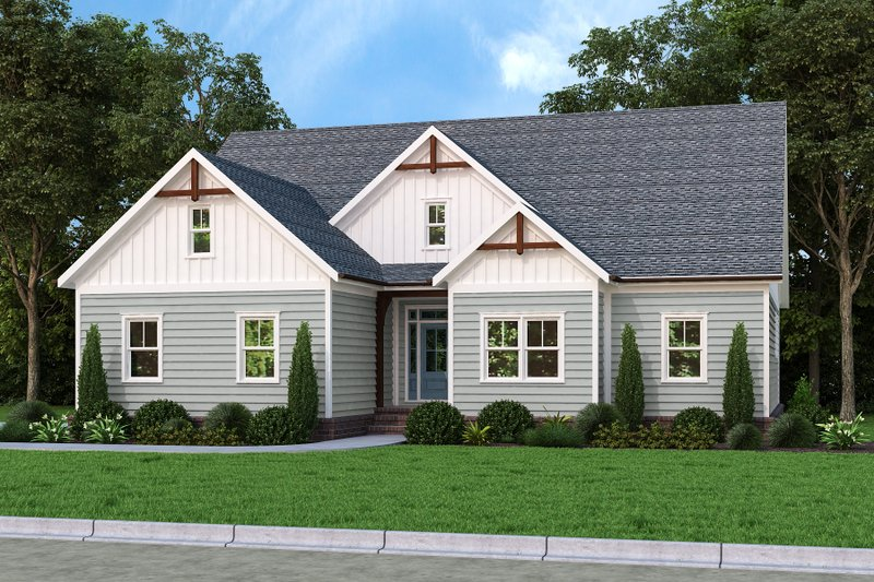 Home Plan - Farmhouse Exterior - Front Elevation Plan #927-1016
