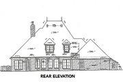 European Style House Plan - 4 Beds 3.5 Baths 3646 Sq/Ft Plan #310-651 Exterior - Rear Elevation