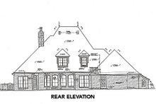 Dream House Plan - European Exterior - Rear Elevation Plan #310-651
