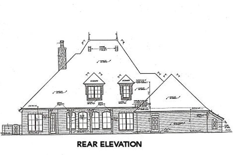 European Exterior - Rear Elevation Plan #310-651 - Houseplans.com