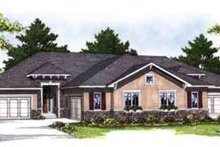 House Plan Design - Traditional Exterior - Front Elevation Plan #70-823